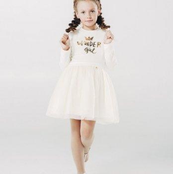 Платье для девочки,кремовое, возраст от 12 до 18 месяцев, SMIL