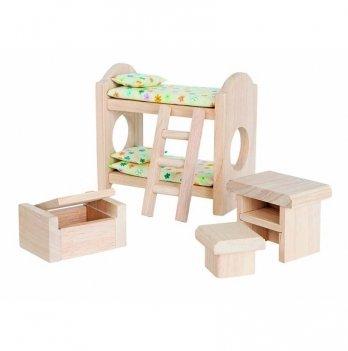 Деревянный игровой набор PlanToys® Детская спальня классическая