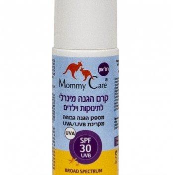 Минеральный органический солнцезащитный детский роликовый лосьон Mommy Care SPF-30, UVА/UVB, 70 мл