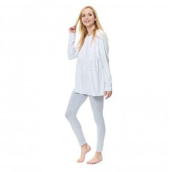 Пижама для беременных Dobranocka, PM.9531 grey melange