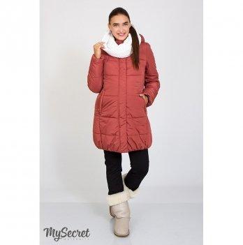 Зимняя куртка для беременных MySecret Jena Бордовый OW-46.092
