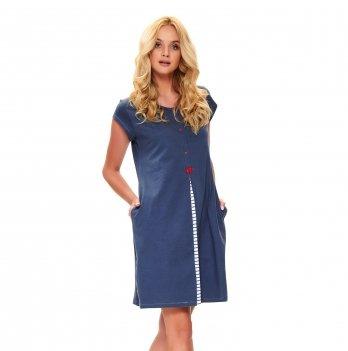 Домашнее платье Dobranocka TCB.9703 deep blue