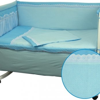 Детский комплект постельного белья из 4-х предметов ТМ Руно, Карапузик голубой