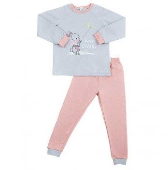 Пижама детская теплая Sweet Mario Светло-серый/Коралловый 3-28-9
