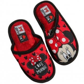 Тапочки-шлепанцы Disney Минни Маус красные/черные