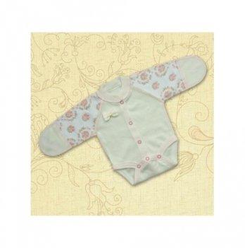 Боди для маловесных малышей Бетис Бантік, с рисунком, молочный/розовый