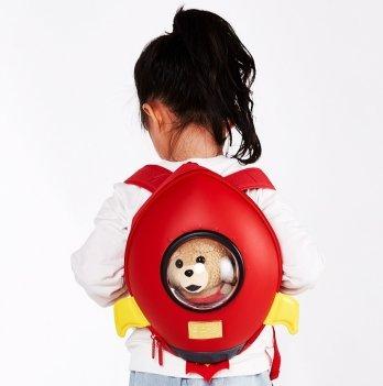 Детский рюкзак SuperCute Ракета, красный