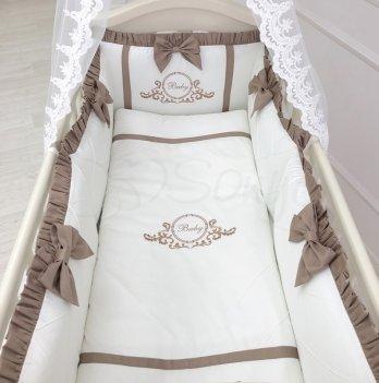 Комплект постельного белья Belissimo Маленькая Соня 025501 шоколад 6 предметов