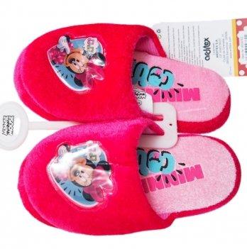 Тапочки-шлепанцы Disney Минни Маус ярко-розовые