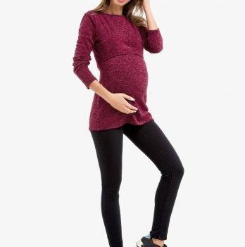 Лонгслив для беременных и кормящих мам Creative Mama MARSALA, ангора Размер XS