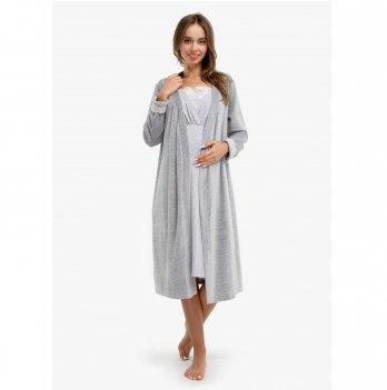 Комплект в роддом Melange Chic Creative Mama халат + ночная