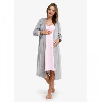 Комплект для беременных и кормящих Creative Mama, ANAIS, халат + ночная рубашка