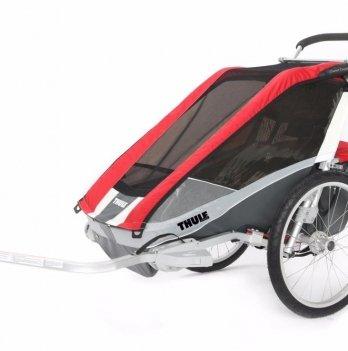 Мультиспортивная коляска Thule Chariot Cougar1, + набор колес, красная