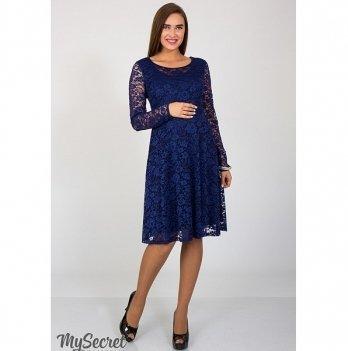 Платье гипюровое для беременных MySecret Deisy DR-37.061 темно-синий