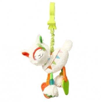 Игрушка-подвеска с вибрацией BabyOno Лама Джейн 715
