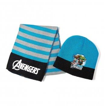 Комплект: шапка и шарф Arditex, Avengers (Мстители) голубой