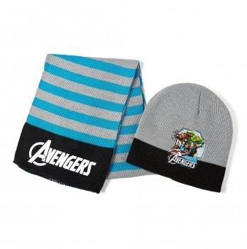 Комплект: шапка и шарф Arditex, Avengers (Мстители) серый