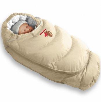 Пуховый конверт-трансформер зима+деми Alaska Demi+Size control Ontario Baby бежевый ART-0000306