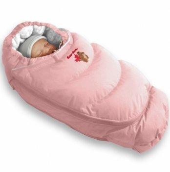 Пуховый конверт-трансформер зима+деми Alaska Demi+Size control Ontario Baby розовый ART-0000305