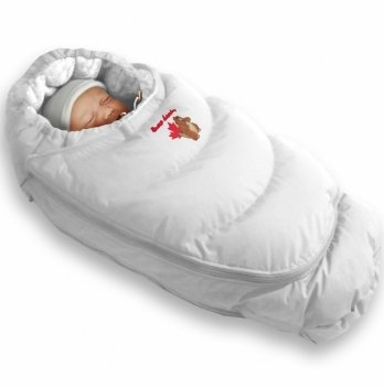 Пуховый конверт-трансформер зима+деми Alaska Demi+Size control Ontario Baby белый ART-0000313
