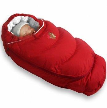 Пуховый конверт-трансформер зима+деми Alaska Demi+Size control Ontario Baby красный ART-0000304