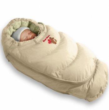 Пуховый конверт-трансформер Alaska Size control Ontario Baby Зима ART-0000061 бежевый