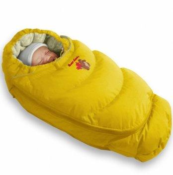 Пуховый конверт-трансформер Alaska Size control Ontario Baby Зима ART-0000062 желтый