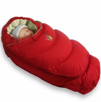 Пуховый конверт-трансформер Alaska Size control Ontario Baby Зима ART-0000059 красный