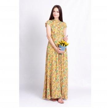 Платье для беременных и кормящих мам Ариша White Rabbit желтый