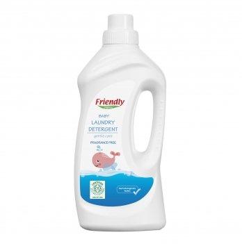 Жидкий гель для стирки Friendly Organic, Baby Laundry Det. Perfume Free, без запаха, 1000 мл, 20 стирок