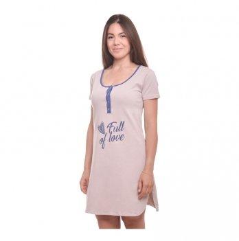 Ночная рубашка Мамин Дом 24167 Clover бежевый