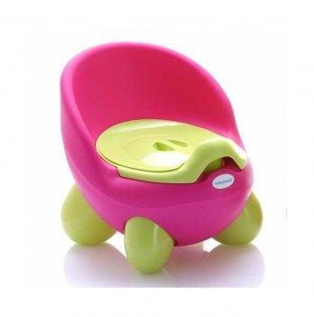 Горшок Babyhood, Кью-кью, на ножках, розовый