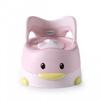Детский горшок с мягким сиденьем Babyhood Утенок Розовый BH-114PU
