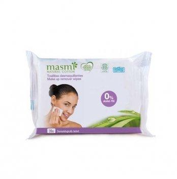 Органические влажные салфетки для удаления макияжа Masmi 20 шт.