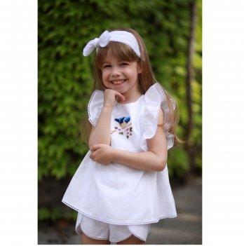 Блуза для девочки Dora Птичка Голубой БПГ01