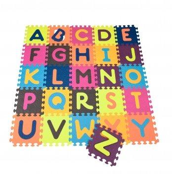 Детский развивающий коврик-пазл - ABC, Battat, 140х140 см, 26 квадратов
