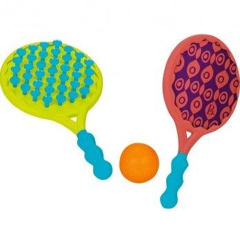 Игровой набор Battat Пляжный тенис, 2-в-1, ракетки с присосками и мячик