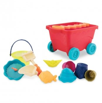 Набор для игры с песком и водой Battat, Тележка манго (11 предметов)