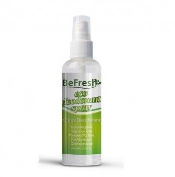 Дезодорант-спрей для тела с экстрактом цитруса Organic Deodorant Spray Citrus BeFresh 100 мл