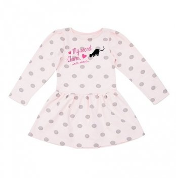 Платье Minikin розовое в горох
