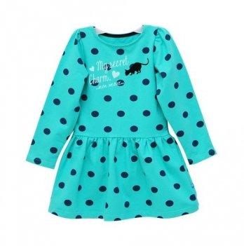 Платье Minikin зелёное в горох