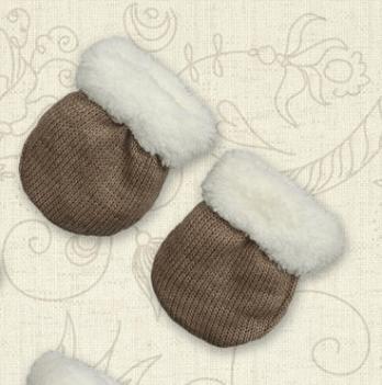 Перчатки Сніжок-3 махра Бетис Кофейный