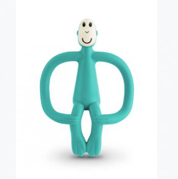 Игрушка-прорезыватель Matchstick Monkey Обезьянка, 10,5 см, зеленая