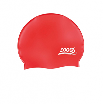 Шапочка для плавания Zoggs Silicone Cap, красная