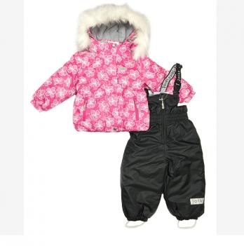Термокомплект для девочки Joiks, возраст от 9 месяцев до 3 лет, рисунок - черный
