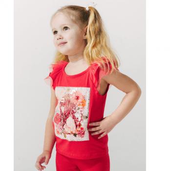 Майка для девочек Smil от 2 до 6 лет красная