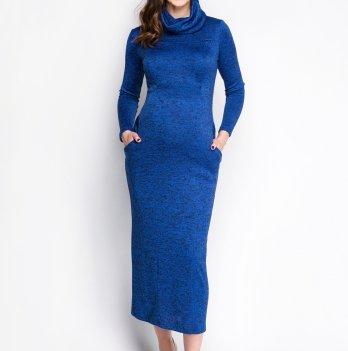 Платье для беременных и кормящих мам Creative Mama Bleu, вязаный трикотаж