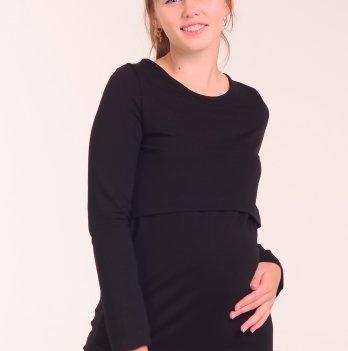 Лонгслив для беременных и кормящих мам White Rabbit Basic, черный