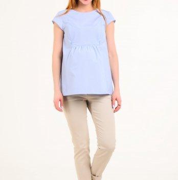 Блуза для беременных и кормящих мам White Rabbit  Baby Blue (Голубая Клеточка)