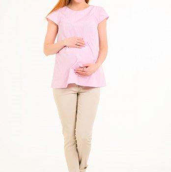 Блуза для беременных и кормящих мам White Rabbit  Baby Pink (Розовая Клеточка)